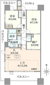 プラウドタワー久屋大通の間取図