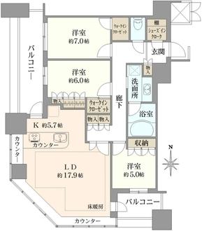 ザ・ライオンズ ミッドキャピタルタワーの間取図