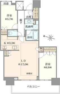 プラウドタワー名古屋栄の間取図