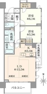 プラウドタワー名古屋伏見の間取図