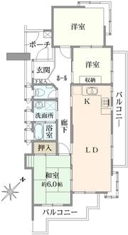 集合邸宅八事本町の間取図