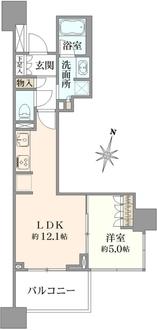 プラウドタワー名古屋久屋大通公園の間取図