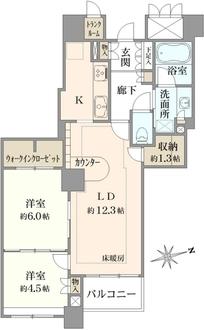 G.A.タワーの間取図