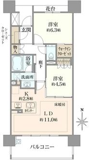 パークナード名古屋駅の間取図