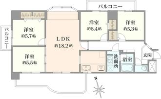 ユーハウス横須賀の間取図