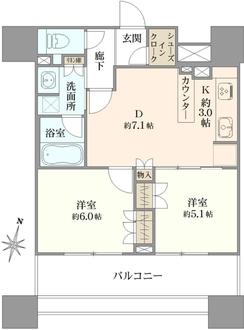 オープンレジデンシア名古屋栄の間取図