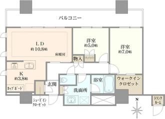 タワー・ザ・ファースト名古屋栄の間取図