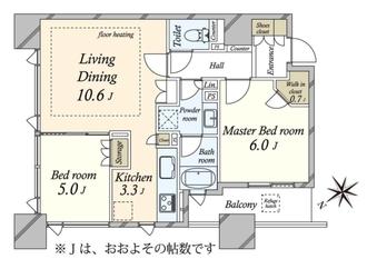 シティタワー横濱の間取図