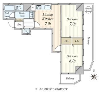 マンション第2木場の間取図