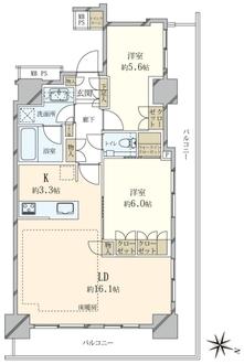 アルファグランデ千桜タワーの間取図