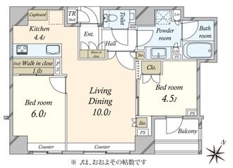 ザ・パークハウス日本橋蛎殻町の間取図