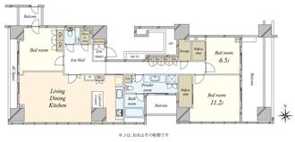 麹町パークハウスの間取図