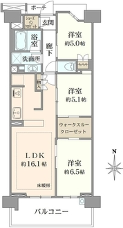 ブリリアシティ横浜磯子H棟の間取図
