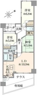 ファミールガーデン横浜・屏風浦の間取図