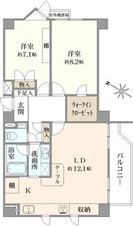 グランドメゾン弘明寺の間取図