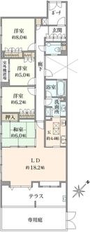クリオレミントンハウス横濱山手サウスポートの間取図