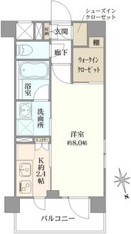 デュオステージ横濱赤門通りの間取図