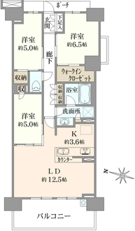 ブリリアシティ横浜磯子D棟の間取図