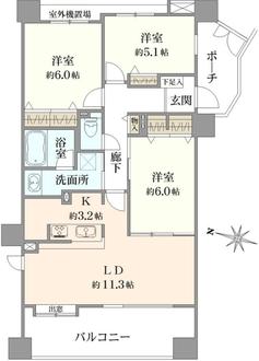 クリオ磯子弐番館の間取図