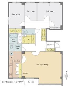 本郷ハウスの間取図