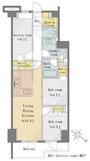 オープンレジデンシア神楽坂ウエスト・テラスの間取図