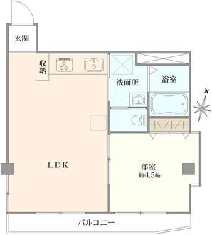 シティーマンション新宿の間取図