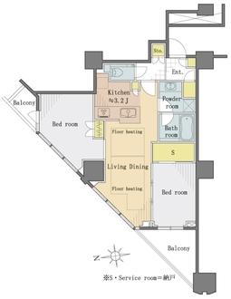 富久クロスコンフォートタワーの間取図
