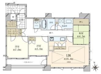ロジュマン京都国際会館の間取図
