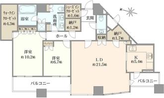 パークコート赤坂ザタワーの間取図