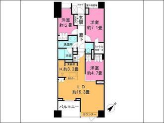 パークハウス東中野リヴゴーシュの間取図