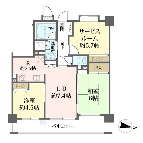 リブゼ横浜クレインモールの間取図