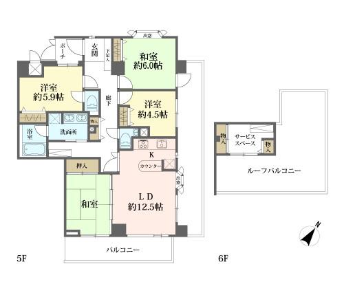 ライオンズマンション町田中町の間取図