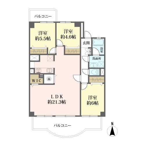 山王住宅の間取図