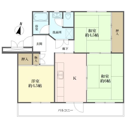 磯辺第一住宅団地の間取図