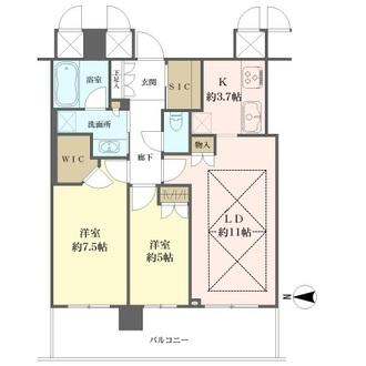 ザ・上本町タワーの間取図