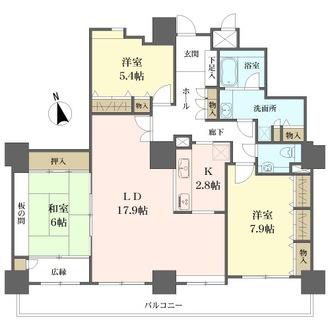 カデンツァ・ザ・タワーの間取図