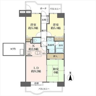 竹の塚ガーデンハウスの間取図