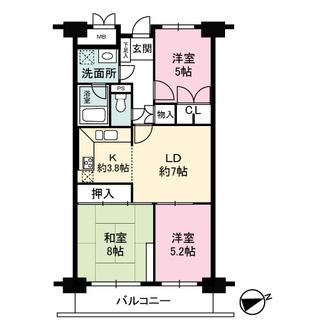 三田ナショナルコートの間取図