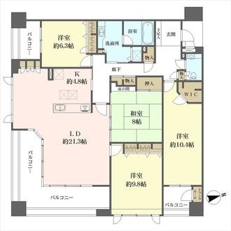 コアマンション桜坂プレジオヒルズの間取図