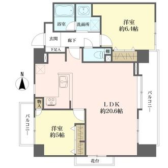 南薬院パークマンションの間取図