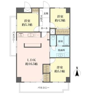 ライオンズマンション南福岡の間取図