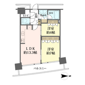 M.M.TOWERS FORESISの間取図