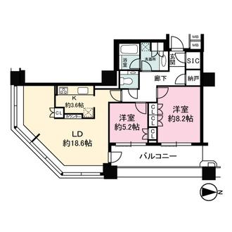 Brilliaタワー東京の間取図
