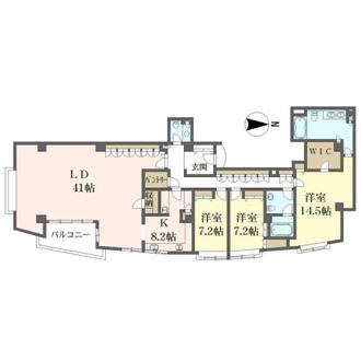 ヴィクトリアコートイースト棟の間取図
