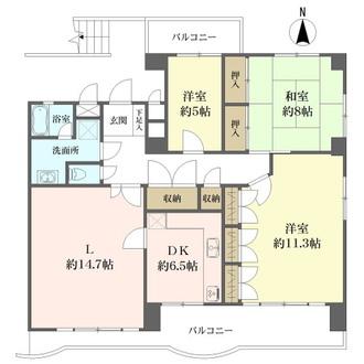 HOUSE-11の間取図