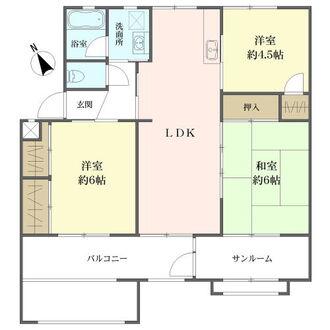 猪子石南住宅の間取図