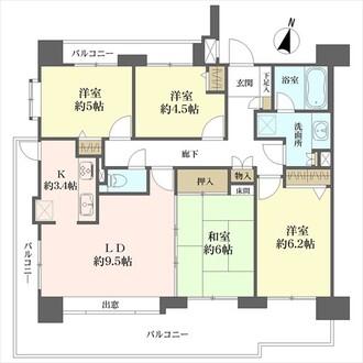 春日井中央通シティハウスの間取図