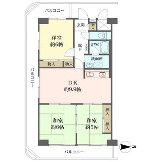 洋伸東大島マンションの間取図