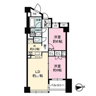 ディオレ西新宿の間取図