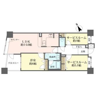コスモ上野パークサイドシティの間取図